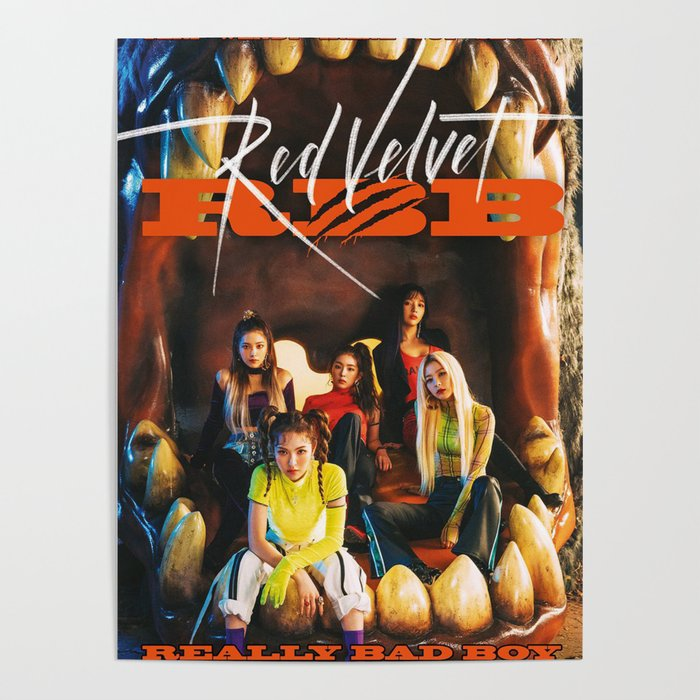 Red Velvet Really Bad Boy Poster By Ynoirb Society6