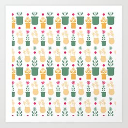 Fresh Flowers Collection Pattern 1 Art Print