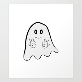 """""""I Hope Ghost Believe In Me"""" tee design. Cite and adorable tee that makes a nice gift to everyone! Art Print"""