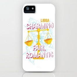 Libra Scale Zodiac Horoscope Sign Symbol iPhone Case