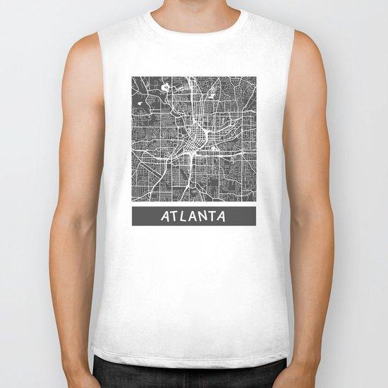 Atlanta map Biker Tank