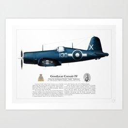 Corsair IV - Gerald Anderson Art Print