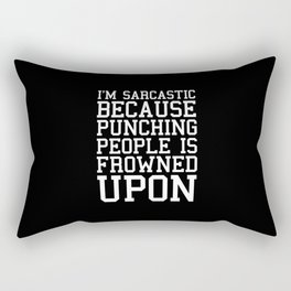 I'm Sarcastic Funny Quote Rectangular Pillow