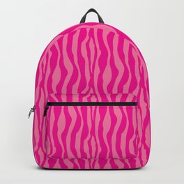 Pink Zebra Print Pattern Backpack