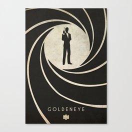 GoldenEye - Nintendo 64 Minimalist Canvas Print