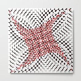 black white red 2 Metal Print