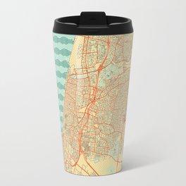 Tel Aviv Map Retro Travel Mug