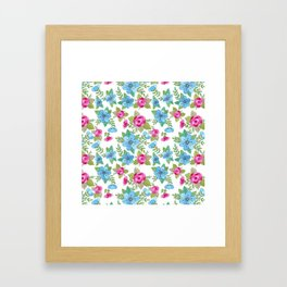 Blue Lilly Watercolor Framed Art Print