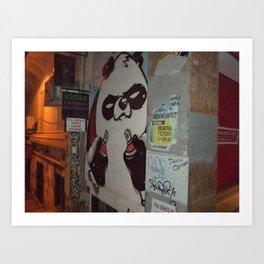 Bad Ass Panda Art Print