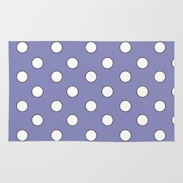 Lavender Pastel Polka Dots Rug