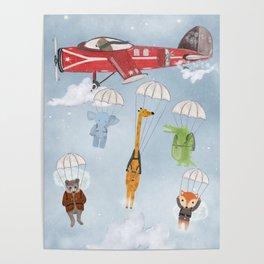 adventure skies Poster