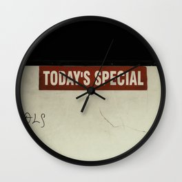 Today's Special Wall Clock
