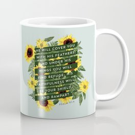 He Will Cover You Coffee Mug