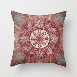 Maladhara Awakening Mandala Throw Pillow