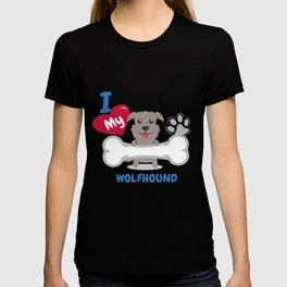 IRISH WOLFHOUND - I Love My IRISH WOLFHOUND Gift T-shirt