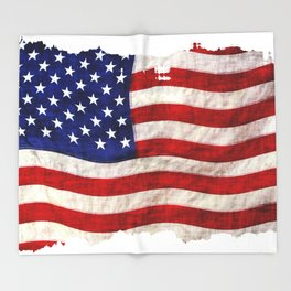 The US Flag Throw Blanket