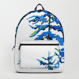 Blue Pine Trees Backpack