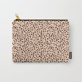 Beige Polka dot Carry-All Pouch