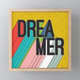 Dreamer Typography Color Poster Dream Imagine Framed Mini Art Print