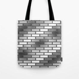 BRICK WALL #2 (Grays & White) Tote Bag
