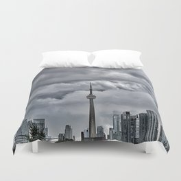 CN Tower Storm is coming  The 6ix Duvet Cover