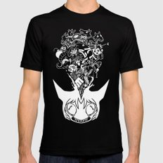 Exploding Head Syndrome SMALL Black Mens Fitted Tee