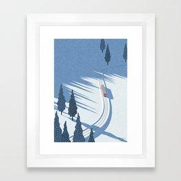 Winter sunshine Framed Art Print