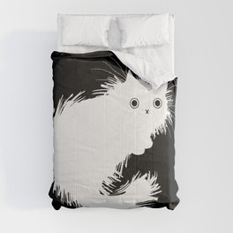 Moggy (No.2) white version Comforters