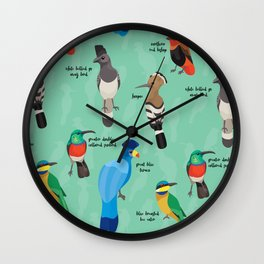 African Birds Wall Clock