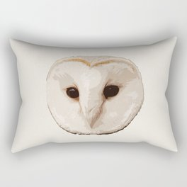barn owl Head Rectangular Pillow