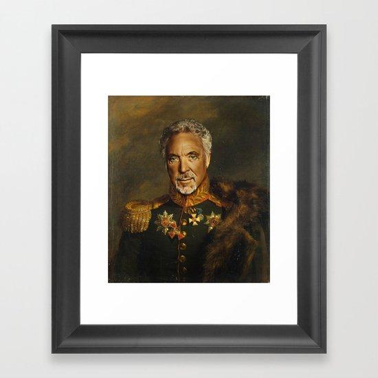 Sir Tom Jones - replaceface Framed Art Print