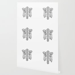 spine ribcage anatomical doodle intricate Wallpaper