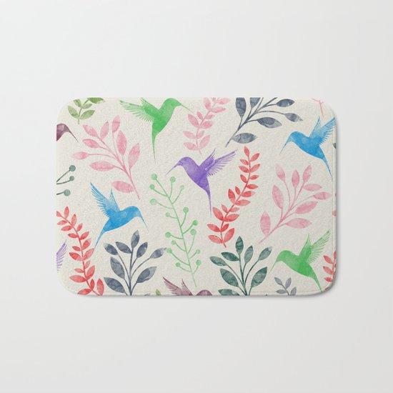 Floral & Birds II Bath Mat