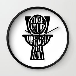 Close the lid Wall Clock