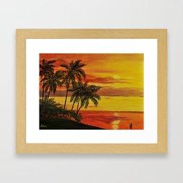 MAUI SUNSER Framed Art Print