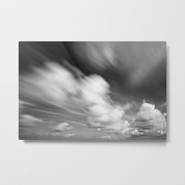 Mono Cloudscape long Exposure Metal Print