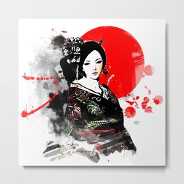 Kyoto Geisha Japan Metal Print