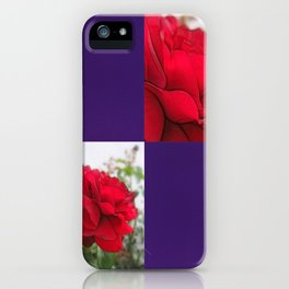 Red Rose Edges Blank Q9F0 iPhone Case