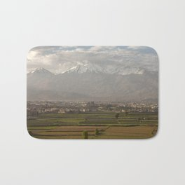 City of Arequipa in Peru with its iconic fields and volcano Chachani Bath Mat