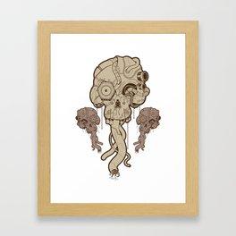 Cyborg Skull Framed Art Print