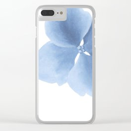 Pansy Flower. Big blue flower Clear iPhone Case