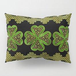 Shamrock Four-leaf clover with Triquetra Pillow Sham