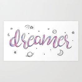 Dreamer Doodle Art Print