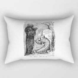 A Christmas Carol Charles Dickens Scrooge and Death Rectangular Pillow