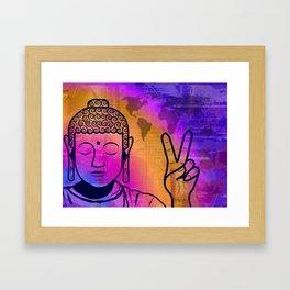 Buddha World Peace Framed Art Print