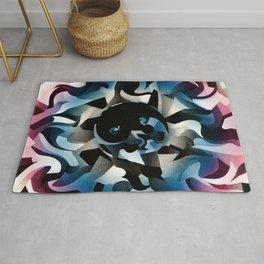 Black White Blue Red Tao Yin and yang Home decor Wall art Twirl Rug