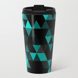 Chic Colors Funky Retro Polygon Triangles Mosaic Pattern Travel Mug