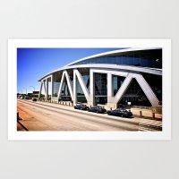 atlanta Art Prints featuring Atlanta by Dion Reid