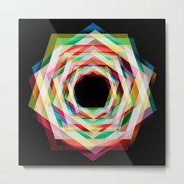 Hexagonal crazy Metal Print