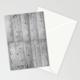 Wood Planks in black and white Stationery Cards